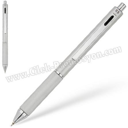 Ucuz Promosyon 4 Fonksiyonlu Akıllı Metal Kalem GKF7113
