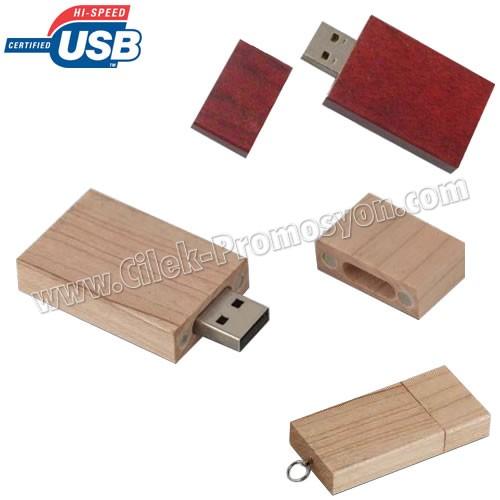 Ucuz Promosyon Ahşap Flash Bellek 8 GB AFB3281-8