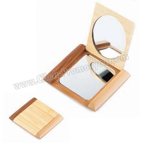 Ahşap Cep Aynası ABU904 - Ücretsiz Baskı ve Ücretsiz Kargo