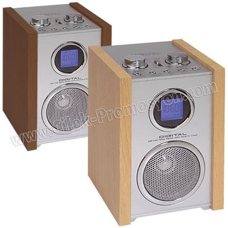 Ucuz Promosyon Ahşap Radyo Frekans Gösteren Işıklı Ekran GRD168