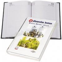Ucuz Promosyon 14x20 Günlük Ajanda - Sıvama Kapak - Dikişli GAJ620-14