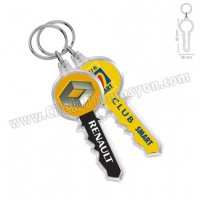 Ucuz Promosyon Anahtar Anahtarlık Şeffaf Çift Taraflı AA1560-A