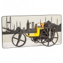 Toptan Ucuz Promosyon Dekoratif Fayton Araba Saat Ayna Fon Şehir Temalı AS20538