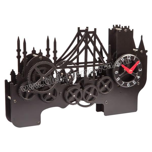 Ucuz Promosyon Dekoratif Saat İstanbul Boğaz Köprü Temalı AS20544