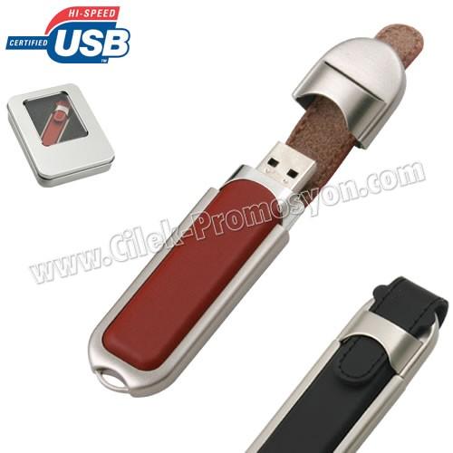Ucuz Promosyon Deri Flash Bellek 2 GB AFB3269-2
