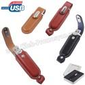 Toptan Ucuz Promosyon Deri Flash Bellek 4 GB AFB3310-4