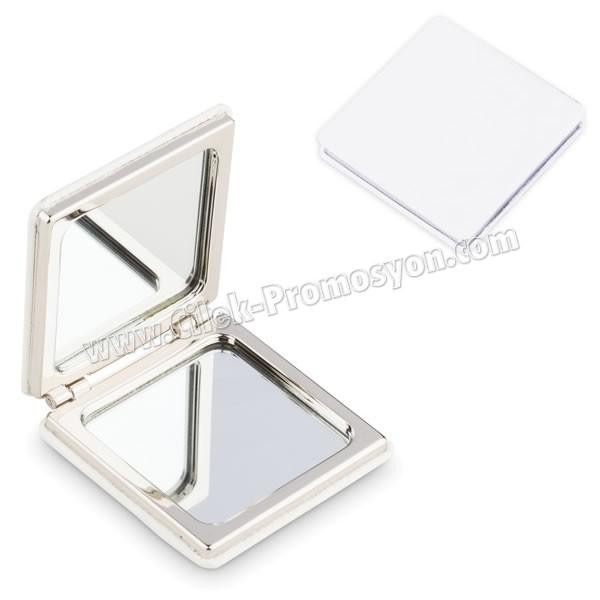 Deri Metal Çanta Aynası Büyüteçli AAM10128 - Ücretsiz Baskı ve Ücretsiz Kargo