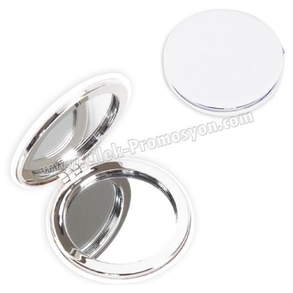 Deri Metal Cep Aynası Büyüteçli AAM10129 - Ücretsiz Baskı ve Ücretsiz Kargo