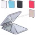 Toptan Ucuz Promosyon Deri Metal Makyaj Aynası Büyüteçli AAM10139