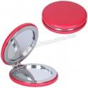 Toptan Ucuz Promosyon Deri Metal Makyaj Aynası Büyüteçli AAM10140