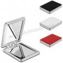 Toptan Ucuz Promosyon Deri Metal Makyaj Aynası Büyüteçli AAM10144