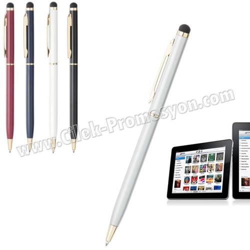 Ucuz Promosyon Dokunmatik Ekran Kalemi Tükenmez AKL18004