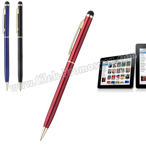 Ucuz Promosyon Dokunmatik Ekran Kalemi Tükenmez AKL18005