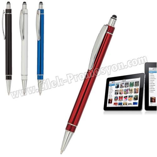 Ucuz Promosyon Dokunmatik Ekran Kalemi Tükenmez AKL18012
