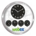 Toptan Ucuz Promosyon Metal Dünya Saatleri Beşli Duvar Saati 60 Cm Alüminyum AS20571