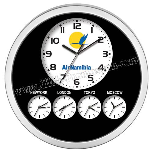 Ucuz Promosyon Dünya Saatleri Beşli Duvar Saati 48,5 Cm AS20112-5