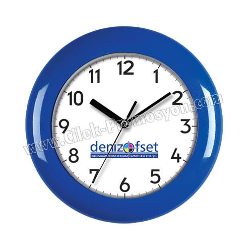 Ucuz Promosyon Duvar Saati 25,5 Cm Boyalı AS20125