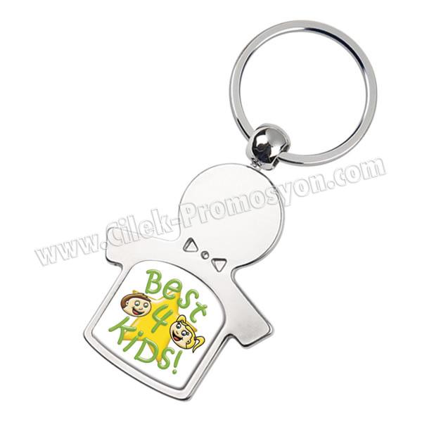 Ucuz Promosyon Erkek Çocuk Anahtarlık Metal - Tek Taraflı AA1562-E