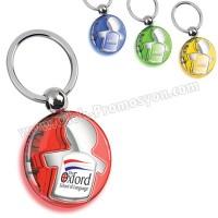 Ucuz Promosyon Erkek Çocuk Figürlü Anahtarlık Şeffaf Renkli Çift Taraflı AA1556-S
