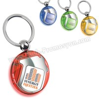 Ucuz Promosyon Ev Figürlü Anahtarlık Şeffaf Renkli Çift Taraflı AA1553-S