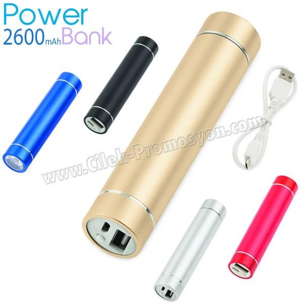 Baskılı Powerbank 2600 mAh - Metal - Fenerli APB3753 - Ücretsiz Baskı ve Ücretsiz Kargo