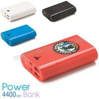 Toptan Taşınabilir Şarj Cihazı 4400 mAh - 2 Çıkışlı - Fenerli APB3768 - Ücretsiz Baskı ve Ücretsiz Kargo