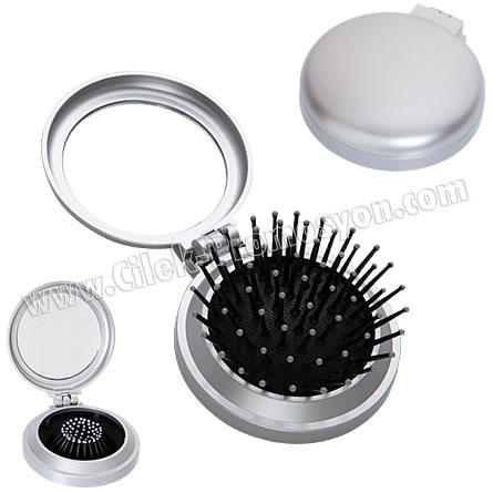 Fırçalı Cep Aynası GBU968 - Ücretsiz Baskı ve Ücretsiz Kargo