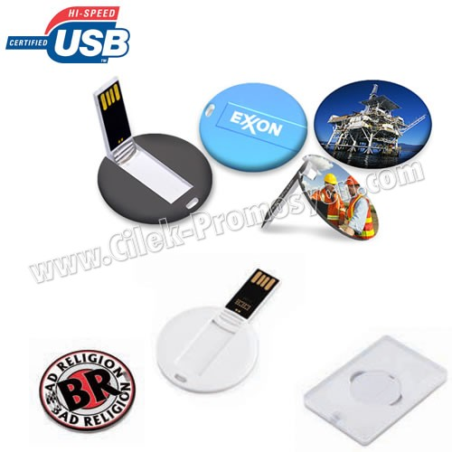 Ucuz Promosyon Flash Bellek 16 GB - Mini Kart Formunda Yuvarlak AFB3267-Y16