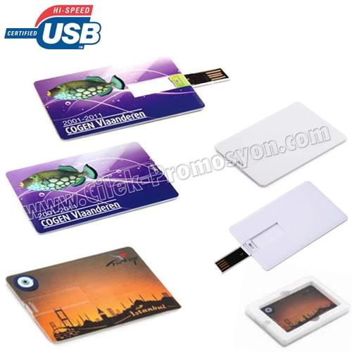 Ucuz Promosyon Flash Bellek 8 GB - Kredi Kartı Formunda AFB3266-8