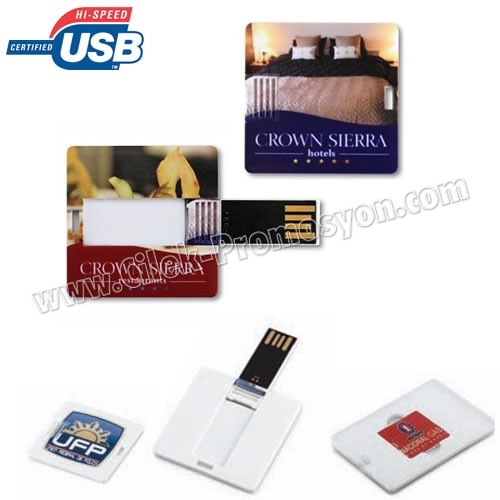 Ucuz Promosyon Flash Bellek 8 GB - Mini Kart Formunda Kare AFB3267-K8