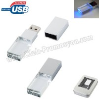 Ucuz Promosyon Flash Bellek 8 GB - Şeffaf Gövdeli AFB3287-8