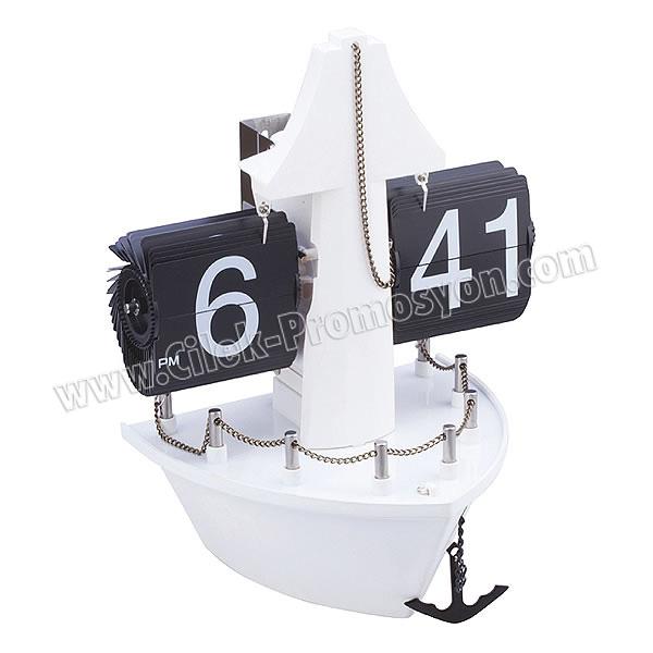 Ucuz Promosyon Dekoratif Gemi Saat Yaprak Mekanizmalı AS20524