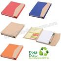 Toptan Ucuz Promosyon Geri Dönüşümlü Bloknot - Kalemli ve Renkli Yapışkan Notluklu AGD24164