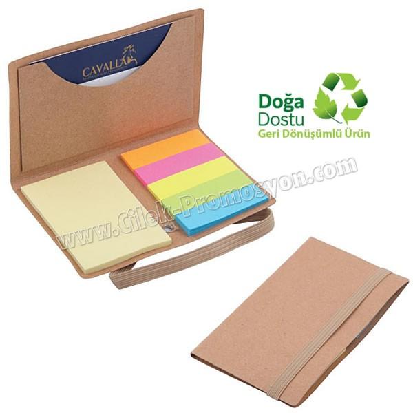 Ucuz Promosyon Geri Dönüşümlü Notluk - Renkli Yapışkan Notluklu AGD8319