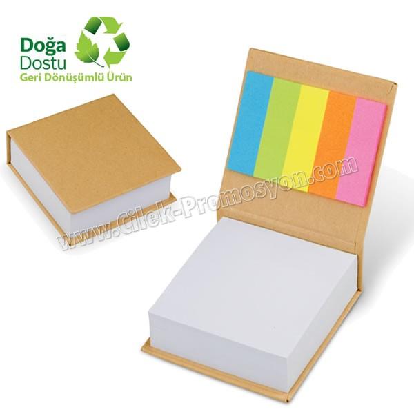Ucuz Promosyon Geri Dönüşümlü Küp Notluk ve Renkli Yapışkan Notluklar AGD24131
