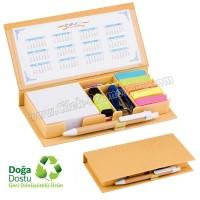 Ucuz Promosyon Geri Dönüşümlü Notluk Seti ve Renkli Yapışkan Notluklar AGD24121