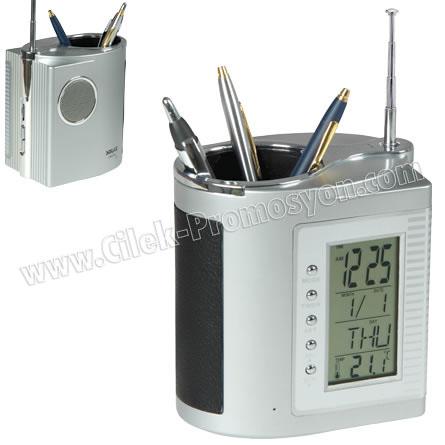 Ucuz Promosyon Kalemlik Radyo Termometreli ve Takvimli GRD128