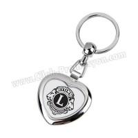 Ucuz Promosyon Kalp Metal Anahtarlık Çift Taraflı AA1567-KP