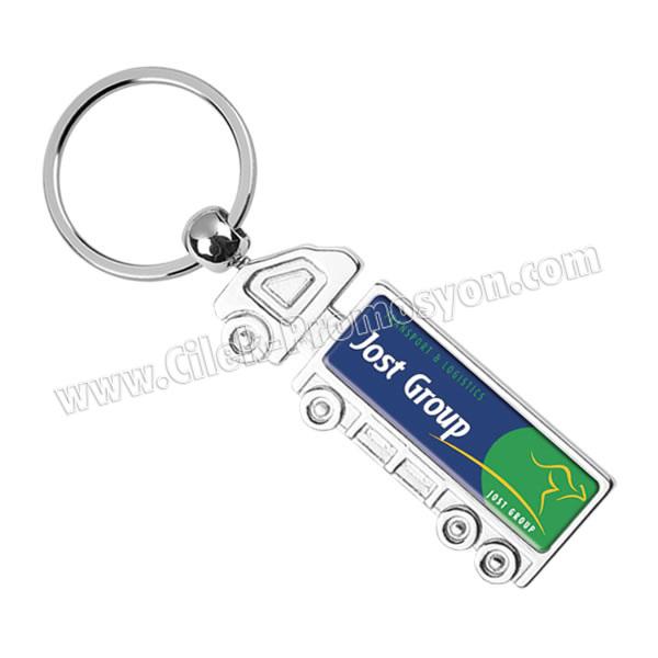 Ucuz Promosyon Kamyon Anahtarlık Metal - Tek Taraflı AA1563-K