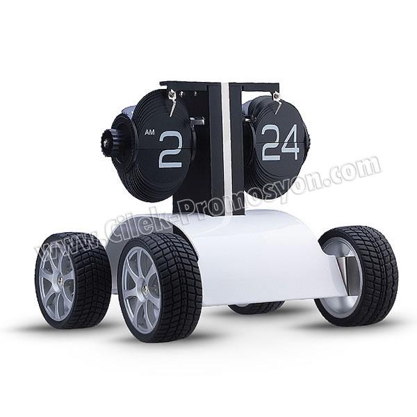 Ucuz Promosyon Dekoratif Araba Saat Yaprak Mekanizmalı AS20526