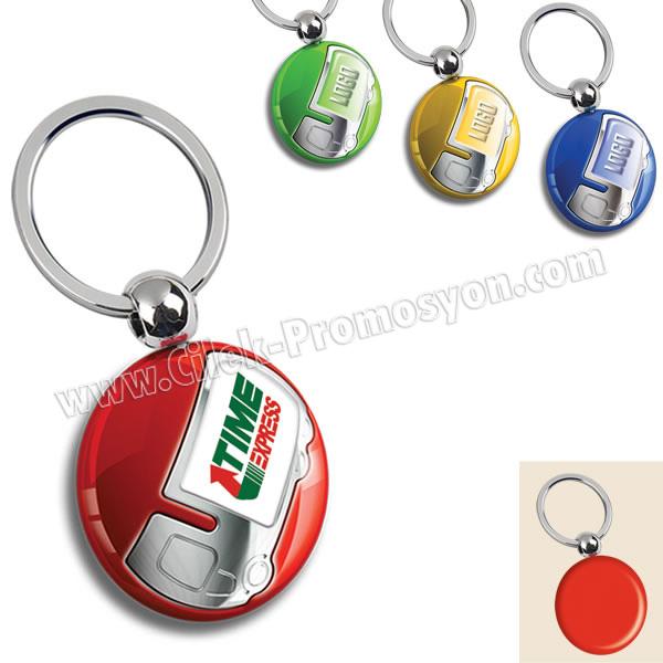 Ucuz Promosyon Kamyon Figürlü Anahtarlık Opak Renkli Tek Taraflı AA1552-O