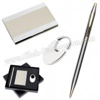 Ucuz Promosyon Kartvizitlik Seti Metal Kalem ve Anahtarlıklı GKV816
