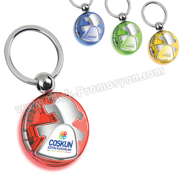 Ucuz Promosyon Kız Çocuk Figürlü Anahtarlık Şeffaf Renkli Çift Taraflı AA1555-S