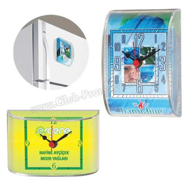 Ucuz Promosyon Magnetli Buzdolabı Saati ABS782