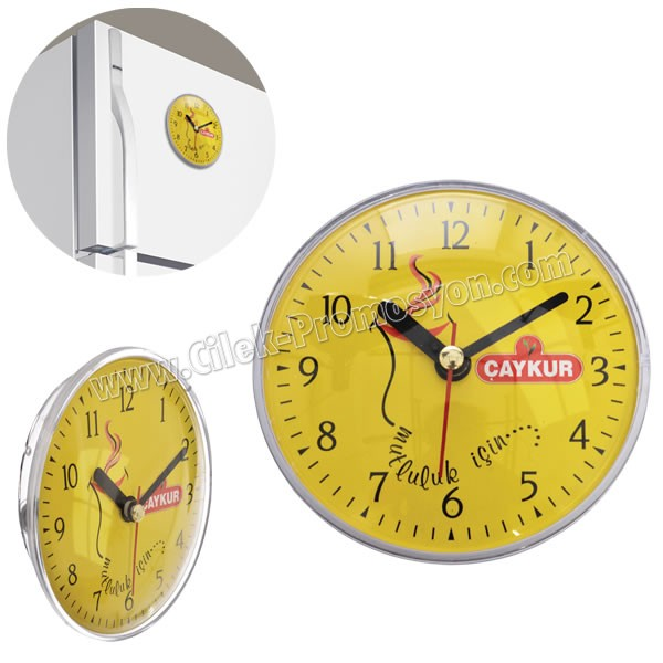 Ucuz Promosyon Magnetli Buzdolabı Saati AS20564
