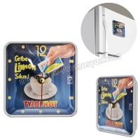Ucuz Promosyon Magnetli Buzdolabı Saati AS20565