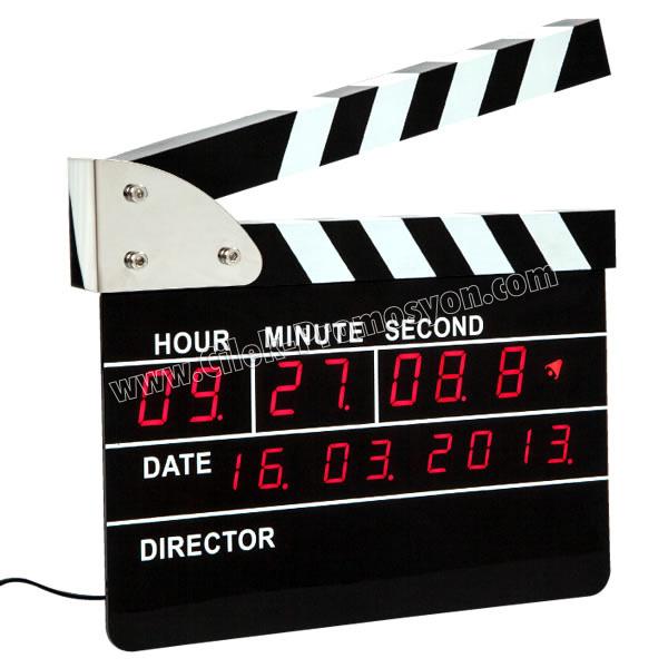 Ucuz Promosyon Klaket Temalı Dijital Masa ve Duvar Saati AS20503-B