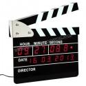 Toptan Ucuz Promosyon Klaket Temalı Dijital Masa ve Duvar Saati AS20503-B