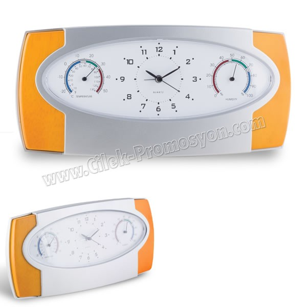 Ucuz Promosyon Masa Saati Nem Ölçer ve Termometreli AS20566