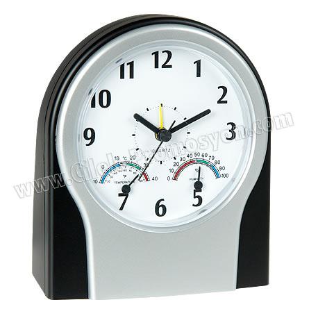 Ucuz Promosyon Masa Saati Termometreli ve Nem Ölçerli GMS223